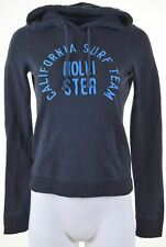 HOLLISTER Womens Hoodie Jumper Size 6 XS Navy Blue Cotton  IY23
