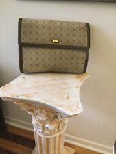 Harrods  ENVELOPE Handbag, Signature SUEDE  Fabric With Leather Trim