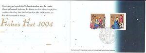 Germany 1994 FDC Christmas Paintings by Hans Memling Sc B773-774 Mi 1770-1771