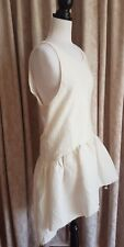 ASILIO Cream Sleeveless Textured Fabric Dress Size L/12 BNWT RRP $269.95