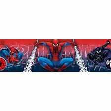 Marvel Spider-Man Boys Medium Wallpaper Border Roll Nursery Bedroom 5 Metres