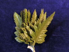 "Vintage Millinery Flower Leaf Green Shaded 4 1/2"" Japan 24 stems in a Bunch Y276"