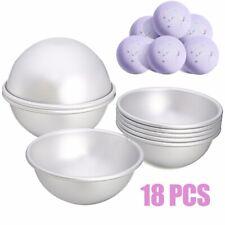 18Pcs/set Aluminum Alloy Ball Sphere Bath Bomb Mold Kit Cake Metal Moulding Tool