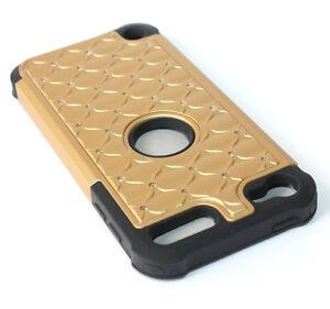 iPod Touch 5th 6th 7th Gen Diamond Bling Hard&Soft Rubber Hybrid Armor Skin Case