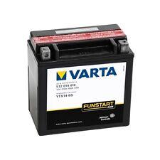 VARTA MOTO-BATTERIA ytx14-bs YTX 14-bs,12 Volt, corrente en (a) 100 NUOVO