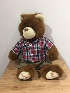 "Galt Educational Barnaby Bear Soft Toy Plush 14"" Children's Teddy Traveling"