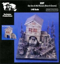 Verlinden 1:48 City Gate & Wall Remains Resin & Plaster Diorama Accessory #2317