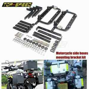 Strong Universal Motorcycle Side Rear Luggage Boxes Cases Mounting Racks Bracket