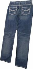 Cinch Men's Grant Relaxed Boot Cut Jean Stitching Mid-Rise Dark Wash  MB77637002