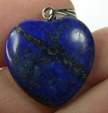 #10 19.50ct Afghanistan 100% Natural Lapis Lazuli Heart Shape Pendant 3.90g 20mm