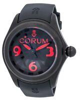 CORUM Men's Bubble Steel Case Red Night Dial BlackRubber Strap Watch R:$3,800.00