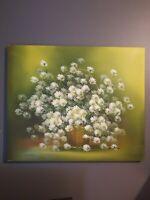 Nancy Lee Oil on Canvas Daisies
