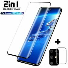 For Samsung Galaxy S20 Ultra Tempered Glass Screen Camera Lens Protector Guard @