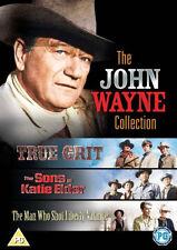 3 DVDs- JOHN WAYNE COLLECTION - TRUE GRIT # DIE VIER SÖHNE DER KATIE ELDER # ...