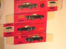 REPLIQUE BOITE MERCEDES 230SL TEKNO 1966