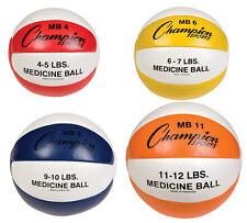 Champion Leather Medicine Balls - Set of 4 - New