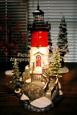 Dept 56 Snow Village ROCK POINT LIGHTHOUSE! 55397 NeW! MINT! FabULoUs!