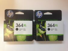 2x Original Genuine HP 364XL Black Ink Cartridges For Photosmart 5520 Printer