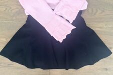 $240 Plum Pudding 2 Piece Black Skirt with Pink Long Sleeve Sweater - Size 8