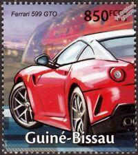 FERRARI 599 GTO Sports Car Stamp (2013 Guinea-Bissau)