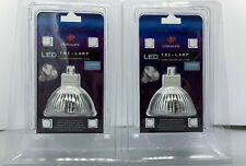 2-Packages of Coralife 3w Led Tri-Lamps: Both Packages are 10,000K daylight