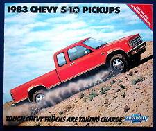 Prospekt brochure 1983 Chevrolet Chevy S-10 Pickups  (USA)