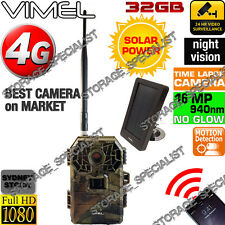 Hunting Camera 4G Trail Solar Panel Home Security Wireless IR No Spy Hidden 3G