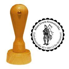Stempel « DUDELSACKSPIELER » Adressenstempel Tradition Schottland Kultur Reise