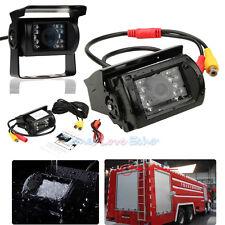18 LED IR Night Vision Truck Bus Car Rear View Reverse Backup Camera Waterproof