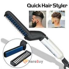 Electric Hair Comb Brush Beard Straightener Beard Quick Styler Curler For Men