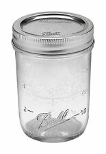 12 x Ball Mason Half Pint 8oz Regular Mouth Canning Jars and Lids