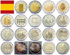 2 Euros Conmemorativos ESPAÑA Sin circular - TODOS LOS AÑOS -