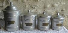 pots à épices série de 4 Tournus  aluminium et laiton
