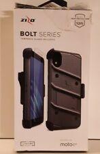 Motorola Moto E6 Case | ZIZO.BOLT Series Holster + Tempered Glass + Kickstand