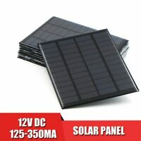 Solar Panel 12V DIY Mini System Portable Battery Cell Phone Charger 1.5w - 4.2w