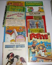 Mixed Childrens Books Popeye Endeavour Reading Numbers Vintage