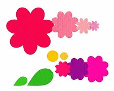 Sizzix Framelits Flower Layers & Leaf set #658692 Retail $19.99 11 Flower Shape