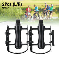 "9/16"" Bike Pedals Mountain Road Bicycle Flat Platform MTB Cycling Aluminum Alloy"