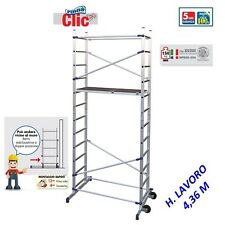 Facal clic scala trabatello alluminio altezza lavoro 436 cm