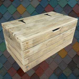 HOPE CHEST- DOWRY BOX RUSTIC WOODEN TRUNK - Hand Made in UK - FREE DELIVERY
