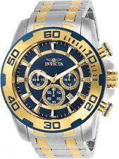 Invicta Hombres Pro Diver Cronómetro 100m Dos Tonos Reloj Acero Inoxidable 26296