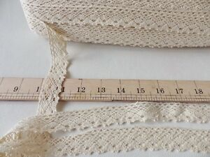 5m x 25mm Ivory Cream  Lace Bridal Wedding Ribbon Cotton Craft Trim Braid (03)