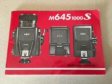MAMIYA M645 1000S Bedienungsanleitung