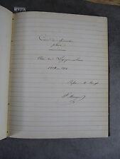 Manuscrit de Géométrie Plane Bourget 1853 Monoyer ophtalmologie optique médecine