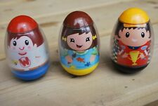 WEEBLES BOYS WITH CARS AND GIRL PAINTING, 2009, PRE-OWNED, GOOD CONDITION