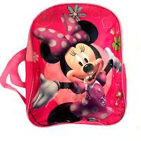 NEU Kinder Kleinkinder Rucksack Disney Minnie Mouse 30x 25cm Mädchen Tasche Pink