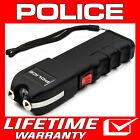 POLICE Stun Gun Black 928 650 BV Heavy Duty Rechargeable LED Flashlight <br/> 650 Billion Stun Gun + FREE Case + Lifetime Warranty