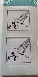 "Bird Seal Violet Gartner Studios 86186 1"" Nature Wildlife Animal Garden Purple"