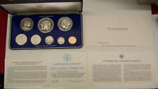 1975 Franklin Mint Jamaica Proof Set - 8 coins w/ Coa and Display Case