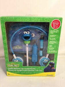Sesame Street Cookie Monster Travel Kit Pro Game Nintendo Accessory Headphones